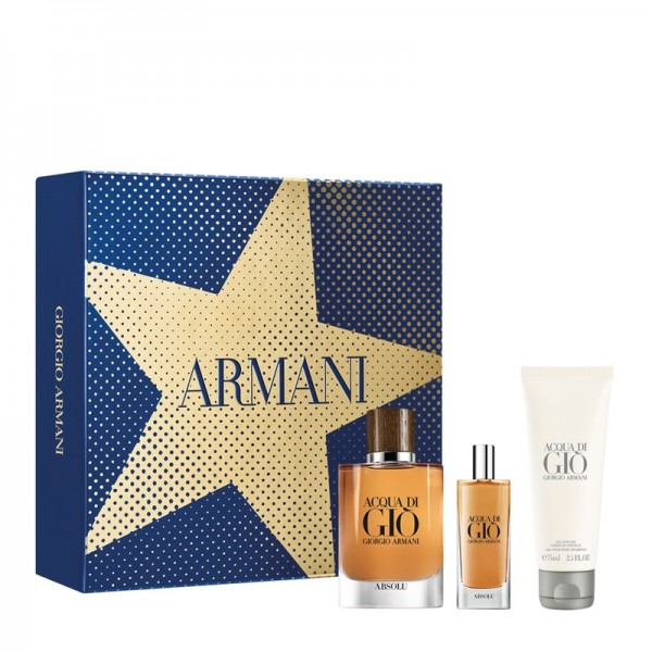 SET ACQUA DI GIO ABSOLU EDP VAP.75ML+EDP 15ML+GEL DOUCHE