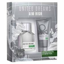 SET UNITED DREAMS AIM HIGH F/MEN EDT SP.100ML+AF.SHAVE 100ML
