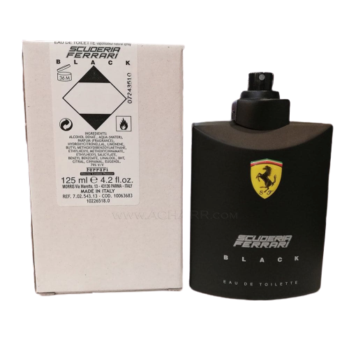 TESTER FERRARI SCUDERIA BLACK EDT 125ML