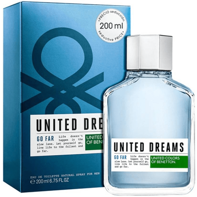 UNITED DREAMS F/MEN GO FAR EDT SP.200ML