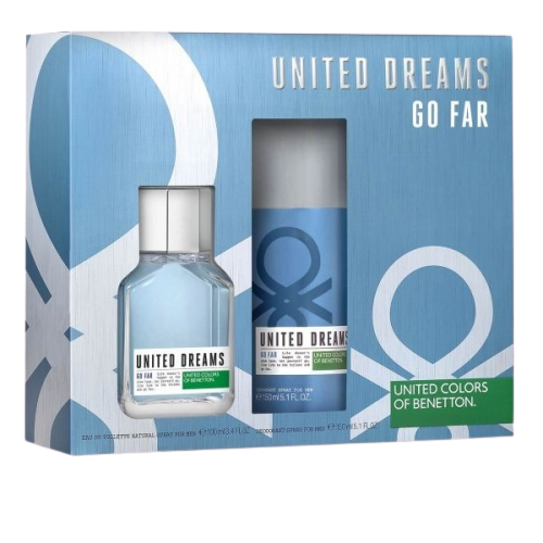 SET UNITED DREAMS F/MEN GO FAR EDT SP.100ML+DEO 150ML