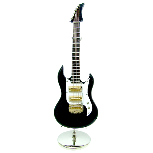 GUITARRA ELECTRICA MINI NEGRA 18CM. 283409